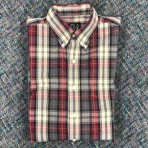 Jos. A Bank Traveler's Collection Plaid Shirt